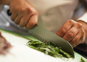 Culinary - Knife Chopping Vegetables